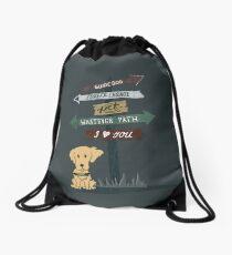 Whatever Path Drawstring Bag