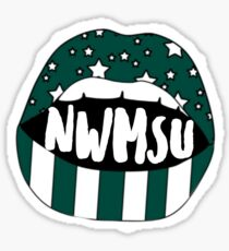 Northwest Missouri State University Lips Sticker