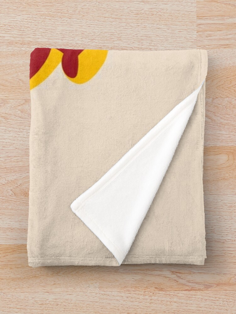 Alternate view of BE GROOVY OR LEAVE Throw Blanket