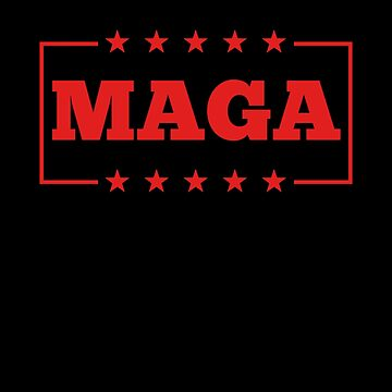 MAGA America Is Great Pro Trump In Red Shirt Gear by DynamicDesign
