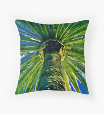 Date Palm at Night Throw Pillow