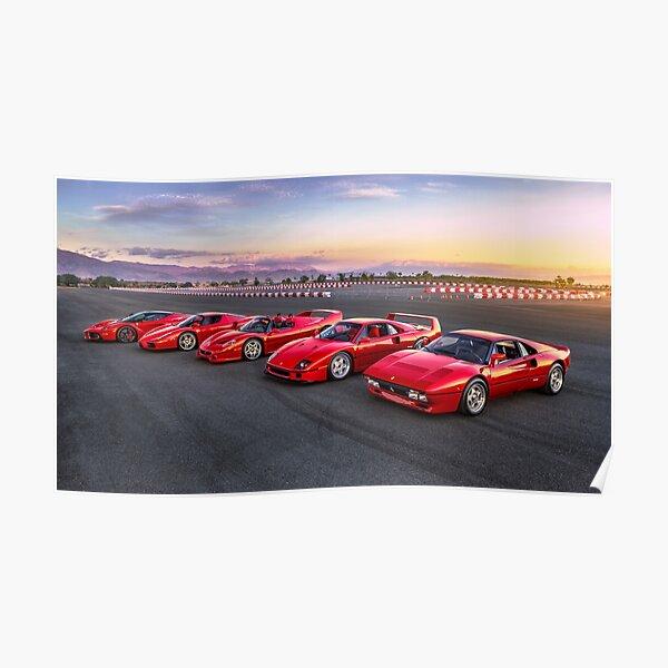 Ferrari Legends at Dawn Poster