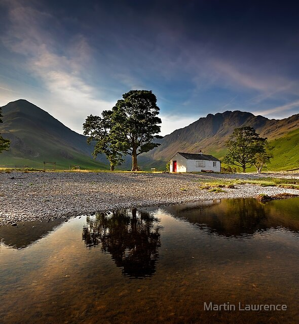Haystacks and Fleetwith Pike in the golden hour at Buttermere by Martin Lawrence