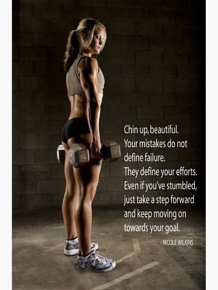 Women S Fitness Inspirational Quote Poster By Superfitstuff Redbubble