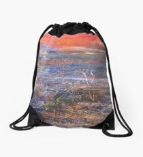 The End of Dusk on the Dawn Shore or the Beginning of Sunset is the End of the Sunrise Drawstring Bag