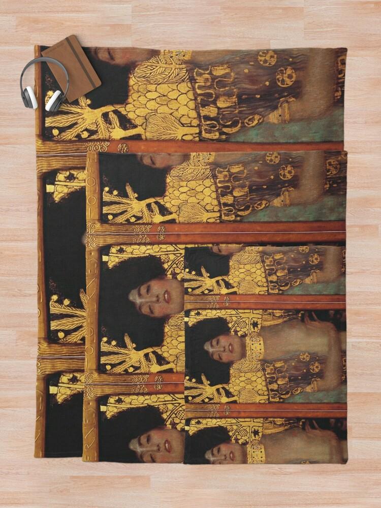 Alternate view of Judith und Holofernes Throw Blanket