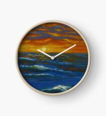 Sunset Ocean  Clock