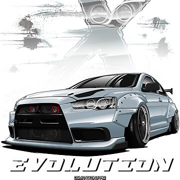 Lancer Evolution X (White) by osmancetinyapic