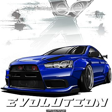 Lancer Evolution X (Blue) by osmancetinyapic