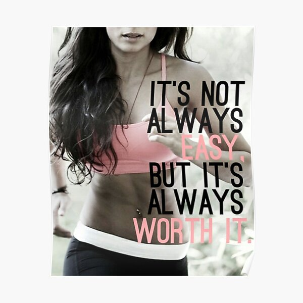 Women's Inspirational Fitness Quote Poster
