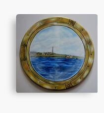 """Sailing past Scattery Island, Ireland"" - oil painting Canvas Print"