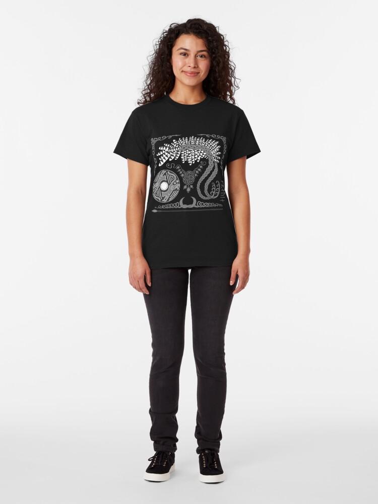 Alternate view of Freyja - Grey Classic T-Shirt