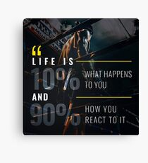 Fitness Inspirational Quote Canvas Print