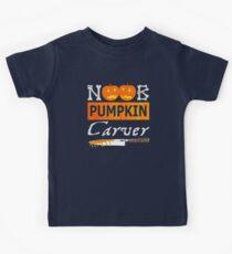 Noob Pumpkin Carver Kids Tee