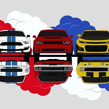 Muscle Cars by AutomotiveArt