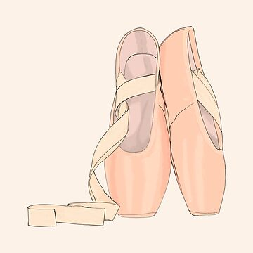 Pointe shoes peach for cute ballerina by MimieTrouvetou