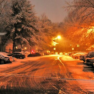 """""""A Snowy Evening in Knoxville (no.1, from this series)""""... prints and products by ArtbyBob"""