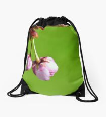 Love blooms with cherry blossoms Drawstring Bag