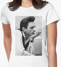 Johnny Cash Women's Fitted T-Shirt