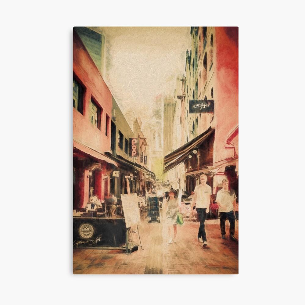 Hardware Lane, Melbourne Australia  (digital painting) Canvas Print