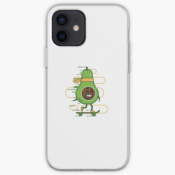 Avocardio vegan Skateboarding Cardio iPhone Soft Case