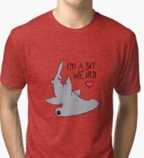 Weird Hammerhead Shark - Shark Love Tri-blend T-Shirt