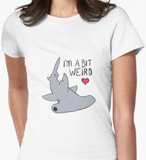 Weird Hammerhead Shark - Shark Love Women's Fitted T-Shirt