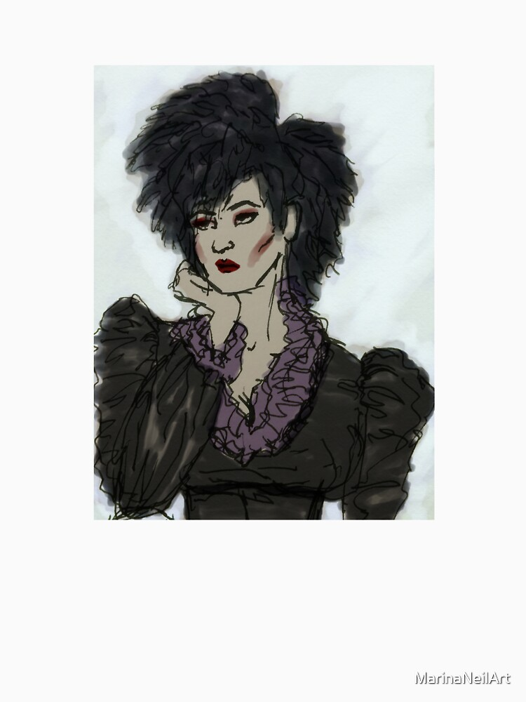 Illustrated Gothic Self-Portrait by MarinaNeilArt