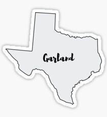 Garland Texas Sticker