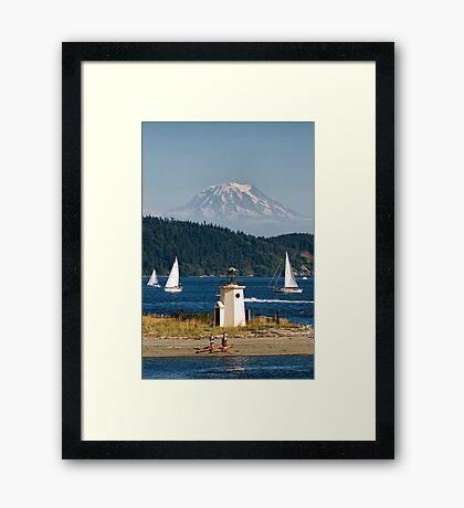 Puget Sound Playground Framed Print