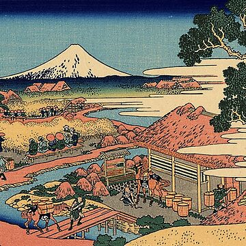 'The Tea Plantation' by Katsushika Hokusai (Reproduction) by RozAbellera