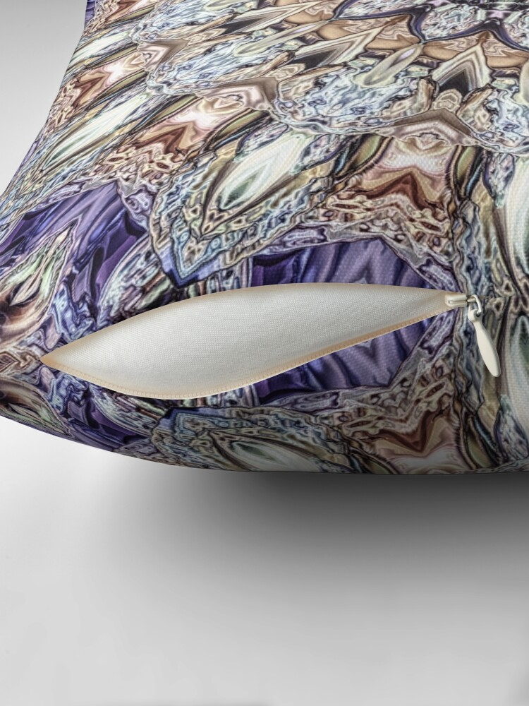 Alternate view of Abstract Gemstones Throw Pillow