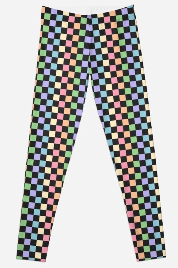 Pastel Rainbow Checkerboard Pattern by sugarhai