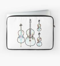 The Four Strings - Violin, Viola, Cello, Bass Laptop Sleeve