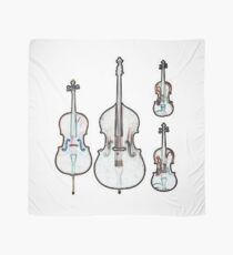 The Four Strings - Violin, Viola, Cello, Bass Scarf