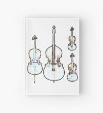 The Four Strings - Violin, Viola, Cello, Bass Hardcover Journal