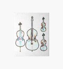 The Four Strings - Violin, Viola, Cello, Bass Art Board