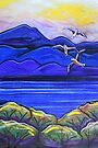 Pastels - Blue With Gulls by Georgie Sharp