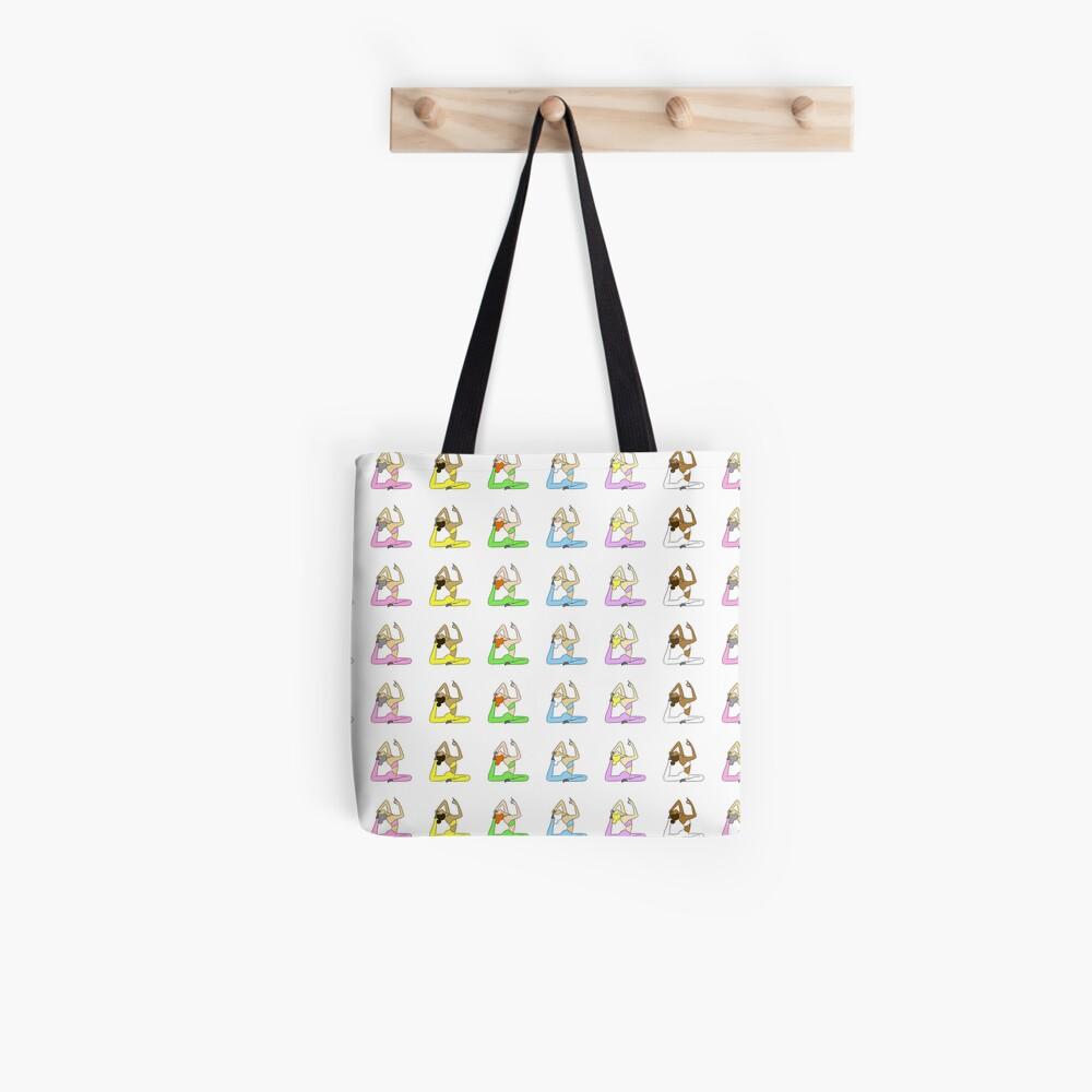 Yoga Rainbow  Tote Bag