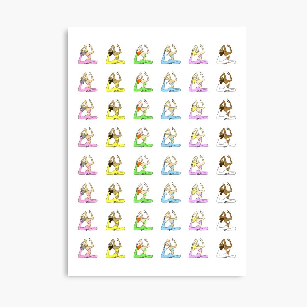 Yoga Rainbow  Canvas Print
