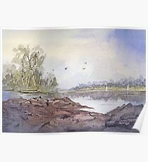Seabreeze - Impressionistic Watercolor Painting Poster