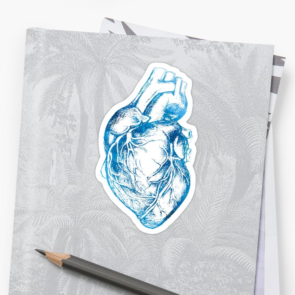 Blue Heart  Sticker