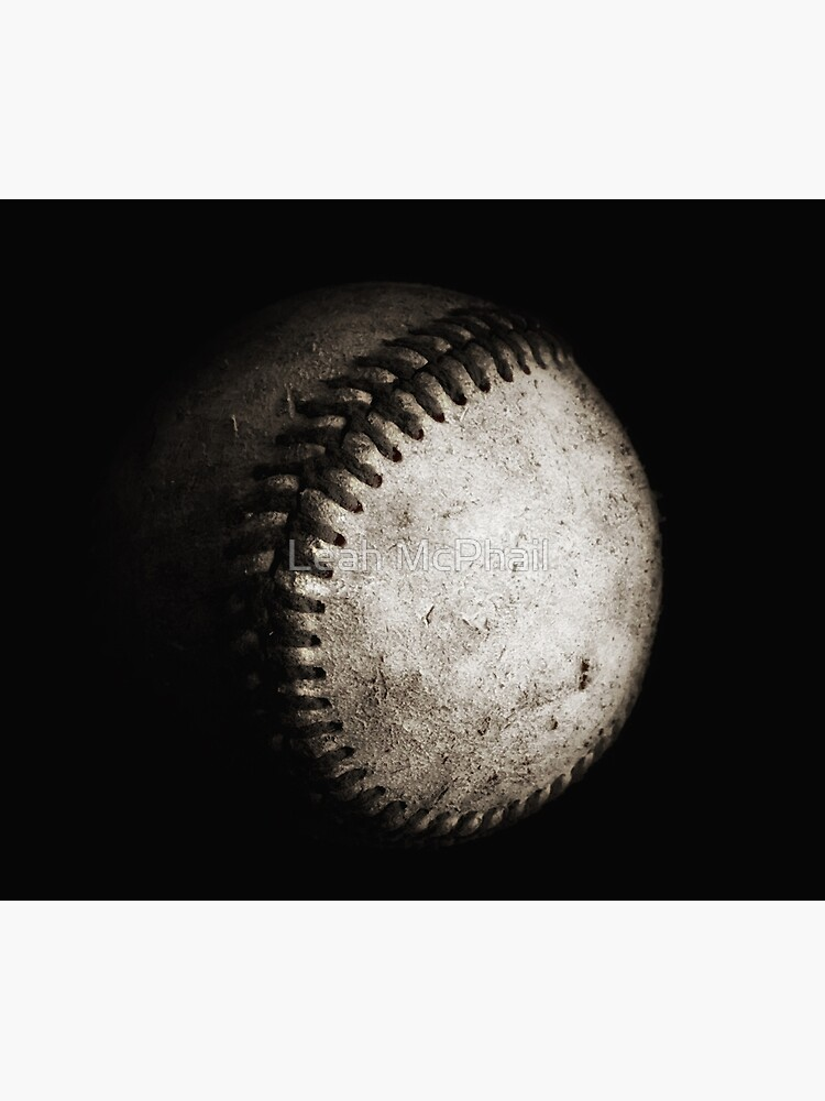 Battered Baseball in Black and White by LeahMcPhail