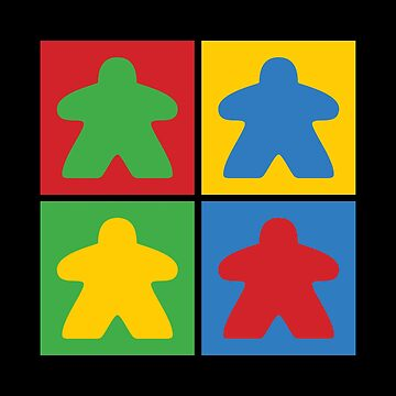 Board Game Four Meeples  by RhoaDesigns