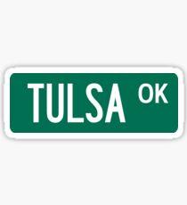 Tulsa, Oklahoma Street Sign Sticker