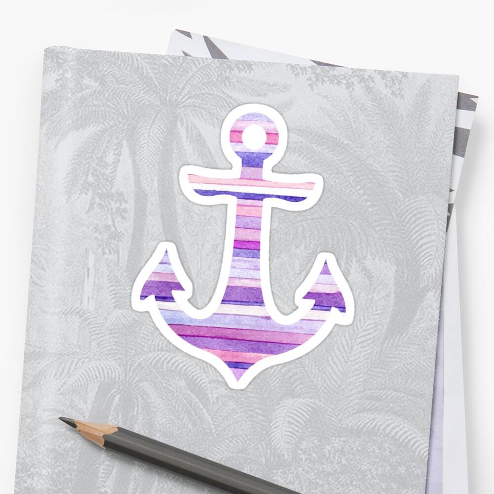 Stripey Anchor  Sticker