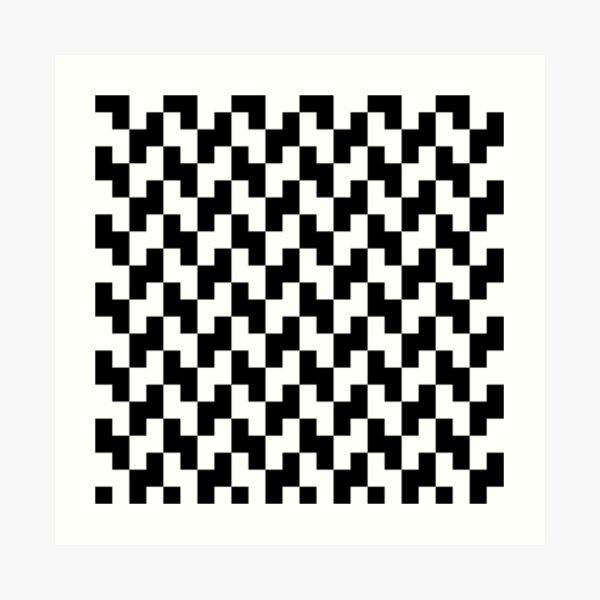 BW Tessellation 5 7 Art Print
