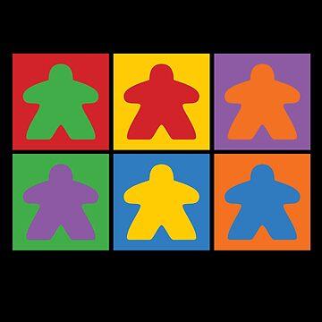 Board Games - Six Meeples by RhoaDesigns