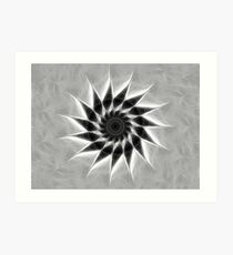 Gray Kaleidoscope Art 19 Art Print