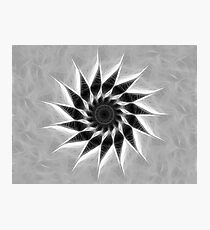 Gray Kaleidoscope Art 19 Photographic Print
